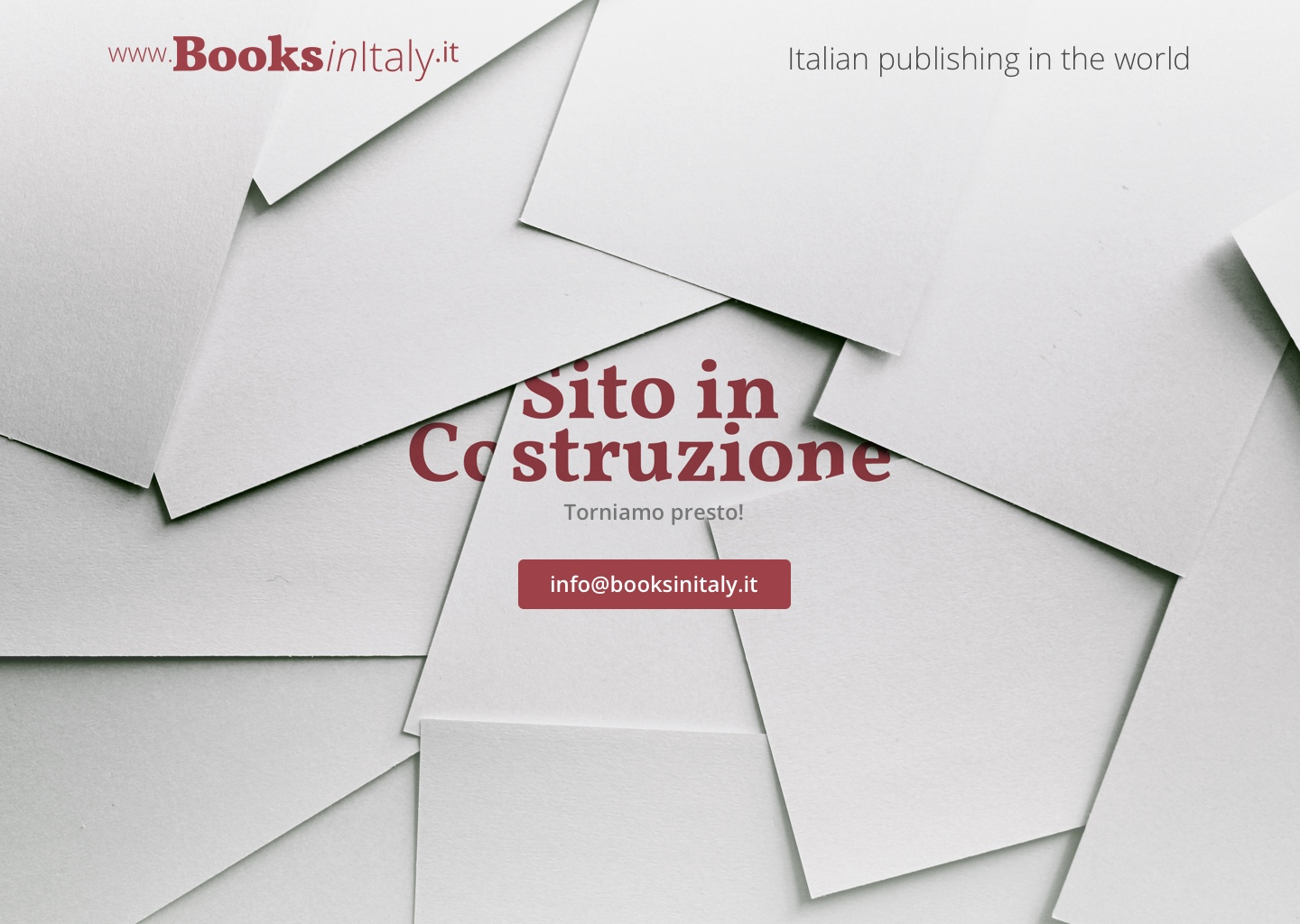 Books in Italy - Desktop Courtesy Page
